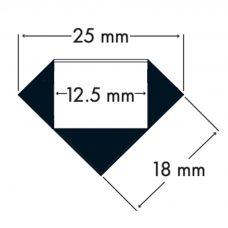 100% Light Uk 45° Surface Led Profile Line Drawing
