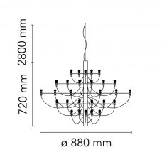 Flos 2097 30 Pendent Light Line Drawing
