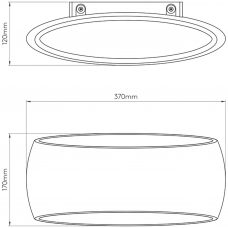 Astro Aria 370 Wall Light Line Drawing