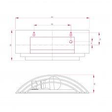 Astro Amalfi 315 Wall Light Line Drawing