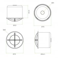 Astro Arran Round Led Wall Light Line Drawing