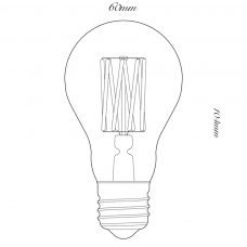 100 Light Uk 6w Gls Clear Led Lamp Line Drawing