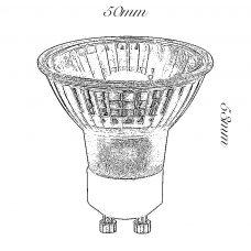 100 Light Uk 6w Gu10 Led Lamp Line Drawing