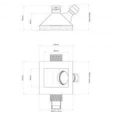 Astro Blanco 45 Plaster Downlight Line Drawing