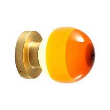 Marset Dipping A2 13 Wall Light Brushed Brass Amber