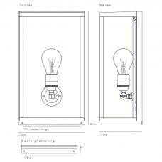 Davey Lighting Box Medium Internal Wall Light Line Drawing