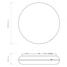 Astro Altea 300 Led Ceiling Light Line Drawing