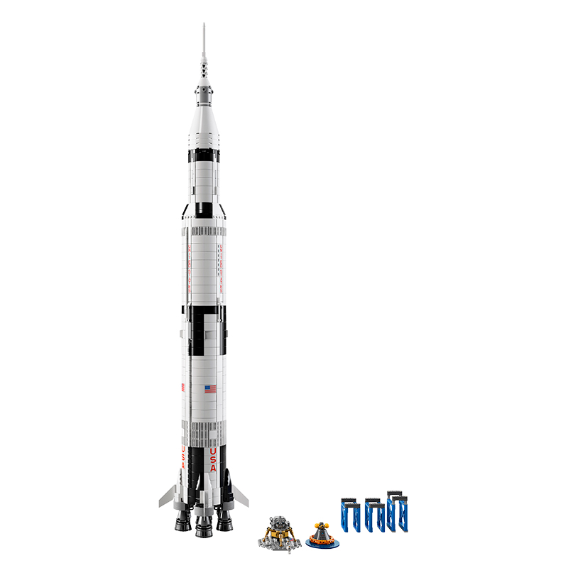 LEGO Ideas Saturn V Standing tall with moon lander