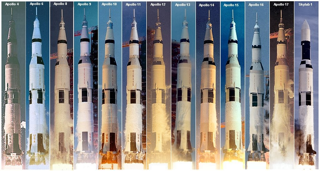 All Saturn V launches
