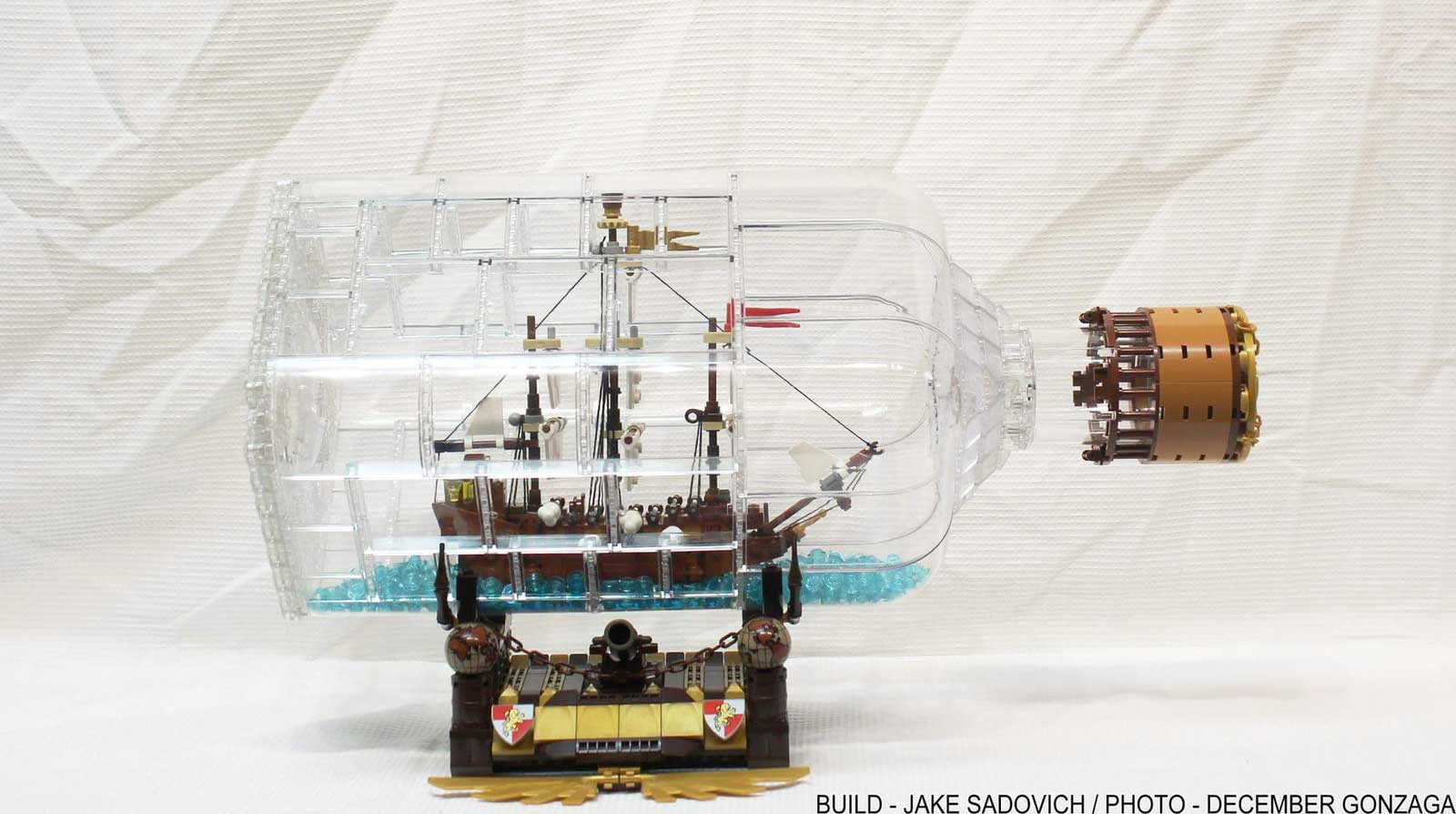 LEGO Ideas ship in a bottle - Leviathan