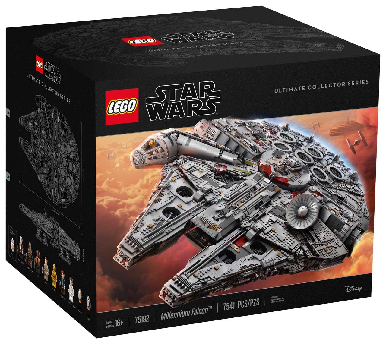 lego millennium falcon box