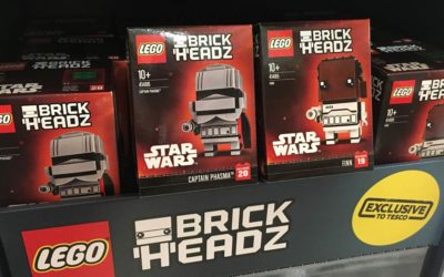 Limited Edition Captain Phasma and Finn Star Wars BrickHeadz Available at Tesco