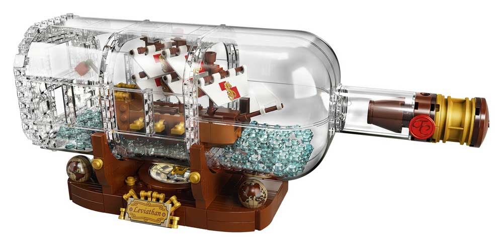 final version LEGO ship in bottle