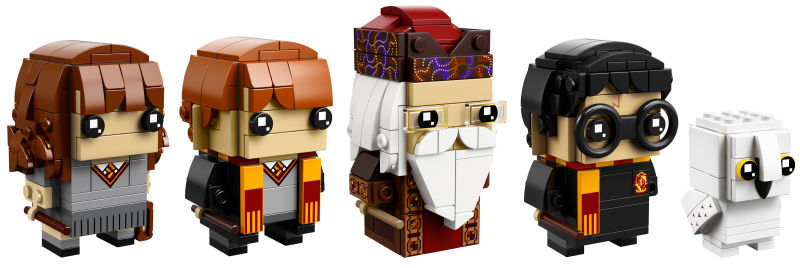 First Batch of Harry Potter LEGO BrickHeadz - Hermione, Ron, Dumbledore, Harry, and Hedwig