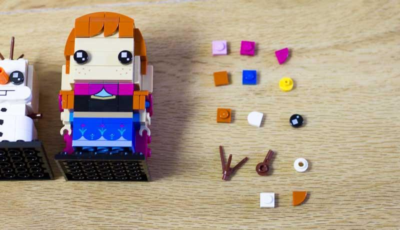 Anna and Olaf BrickHeadz Spare Bricks
