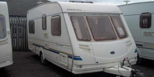 Sterling EUROPA FIXED BED inc AWNING finance part ex deliver and discount welcome