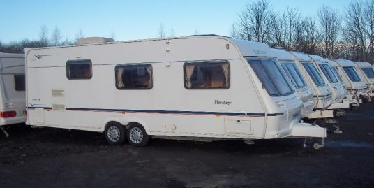 Fleetwood hertige 600 inc AIR CON end washroom twin dynette FINANCE AVAILABLE PX WELCOME