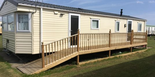 static caravan with decking for sale skegness ,ingoldmells ,chapel