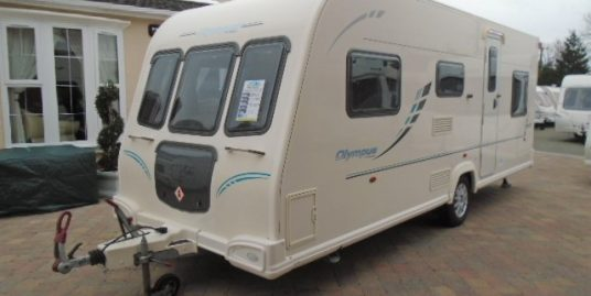 BAILEY OLYMPUS 546 – 6 BERTH FIXED TRIPLE BUNK TOURING CARAVAN