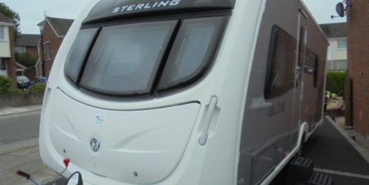 2012 Sterling Elite Opal 4 Berth Caravan For Sale.End Washroom.Motormover