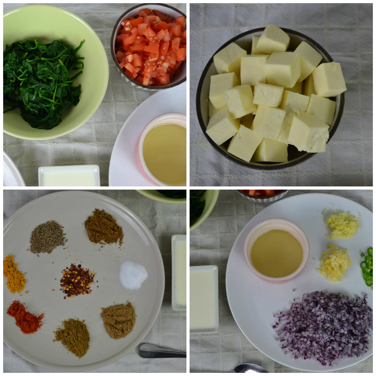 Palak Paneer Recipe with step by step photos