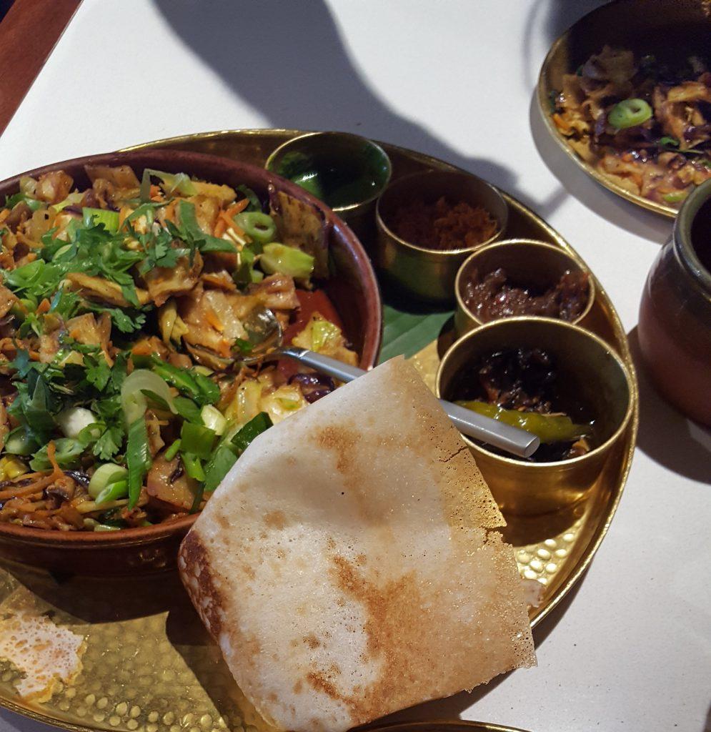 Vegetable Kothu Roti - Vegetarian Food in London
