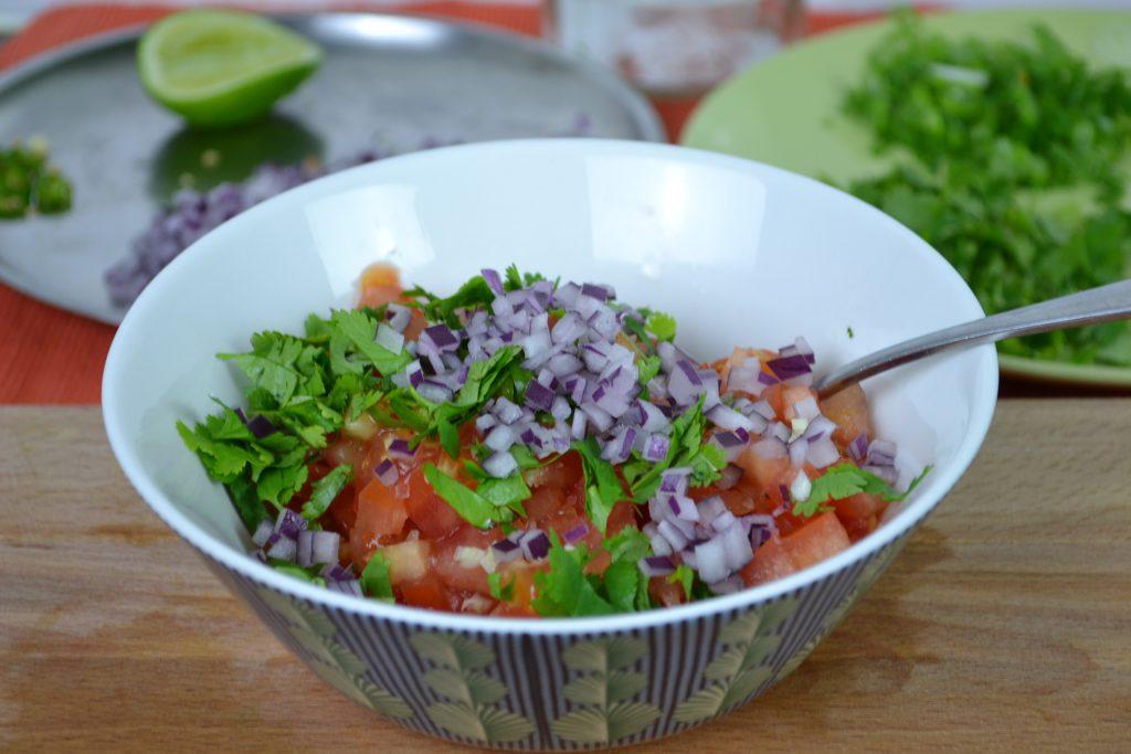 Tomato Salsa and vegetarian quesadillas recipe