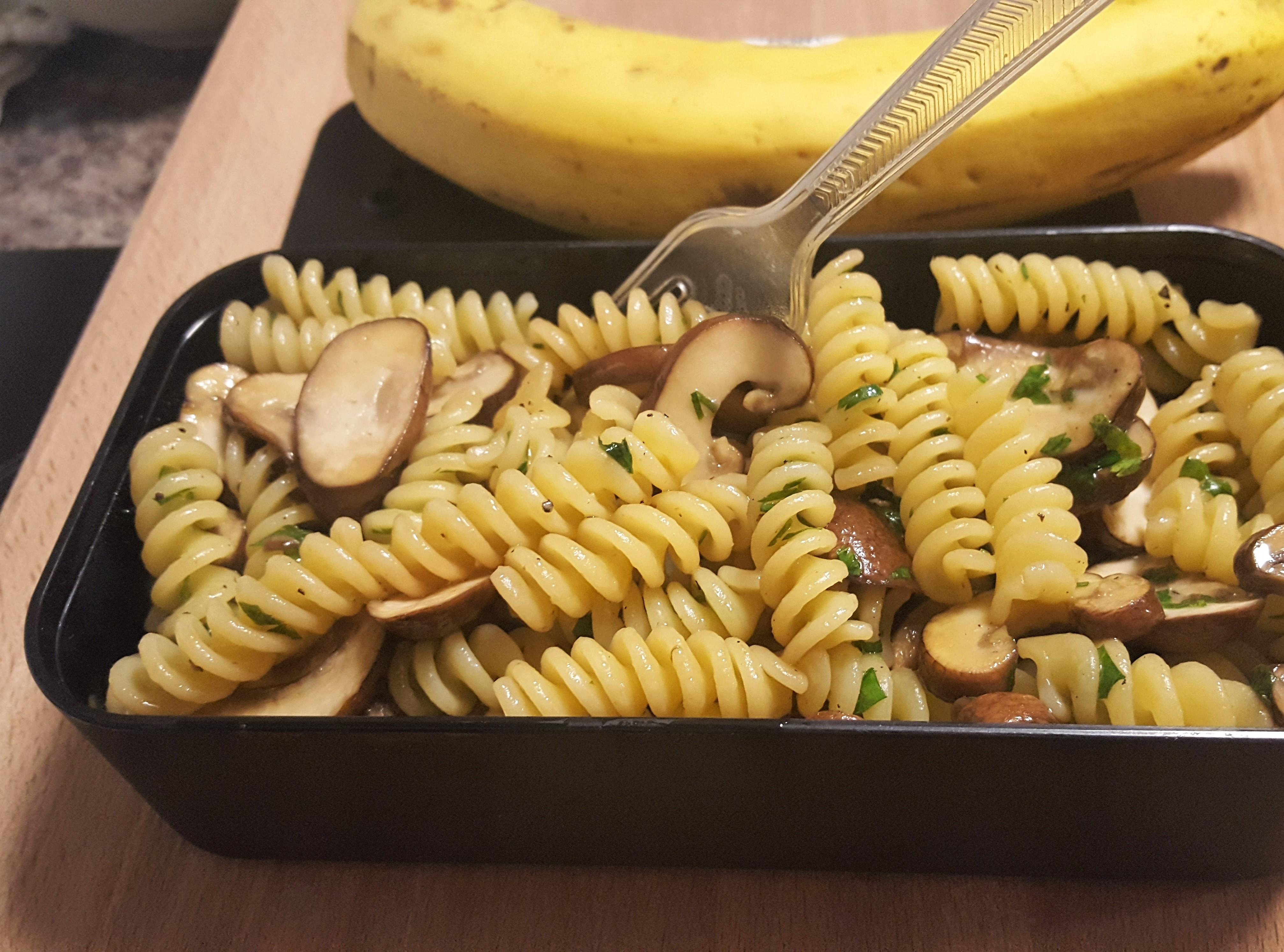 Mushroom Pasta - Lunch box ideas
