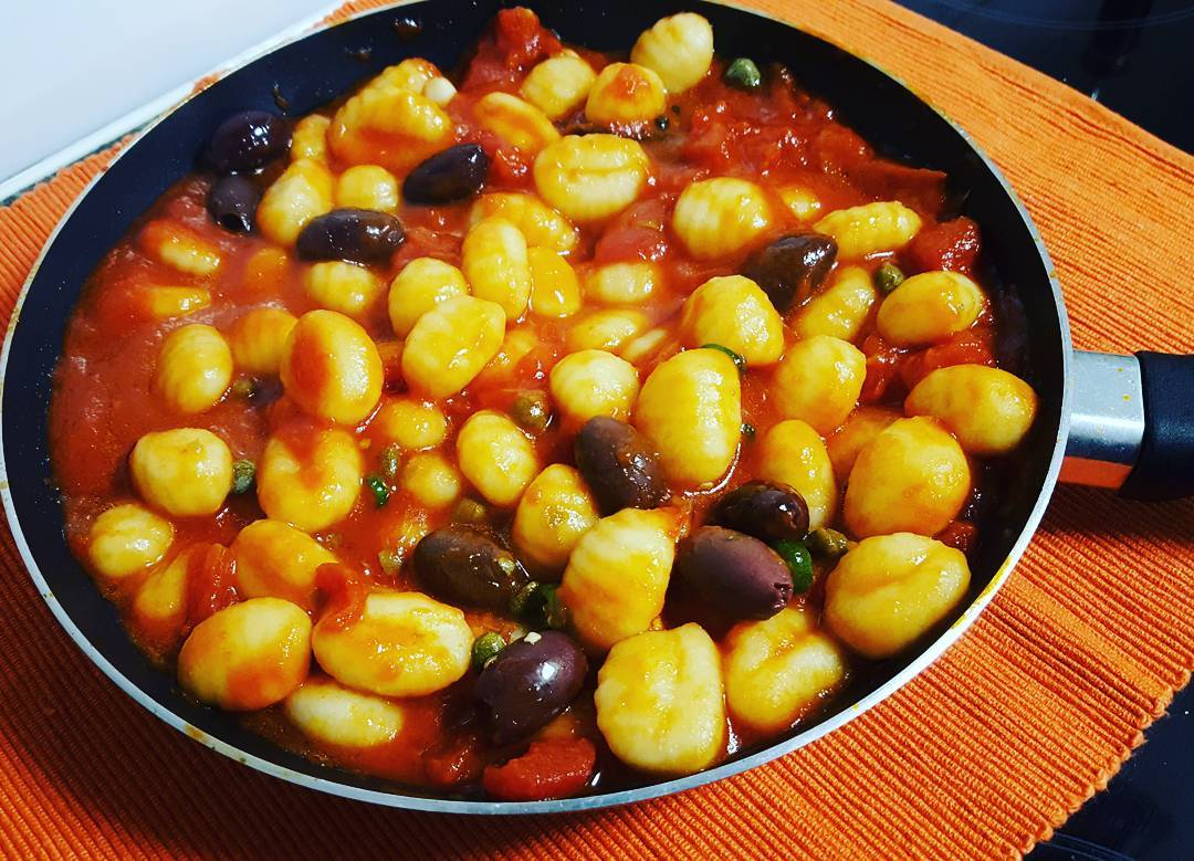 Gnocchi, Capers and Olives in Tomato Sauce - Lunch box ideas
