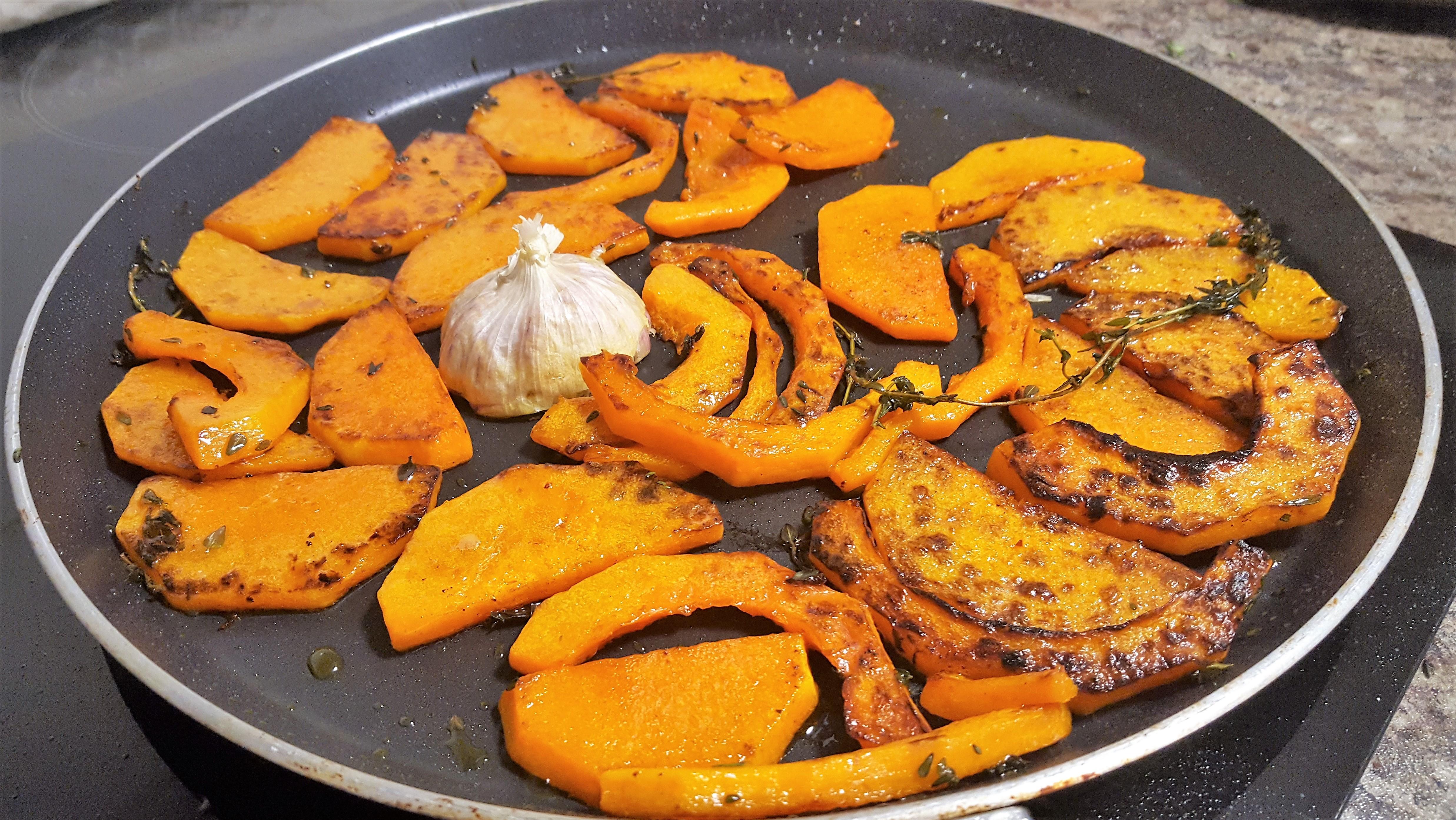 How to pan roast butternut squash Vegetarian Snacks dontask4salt