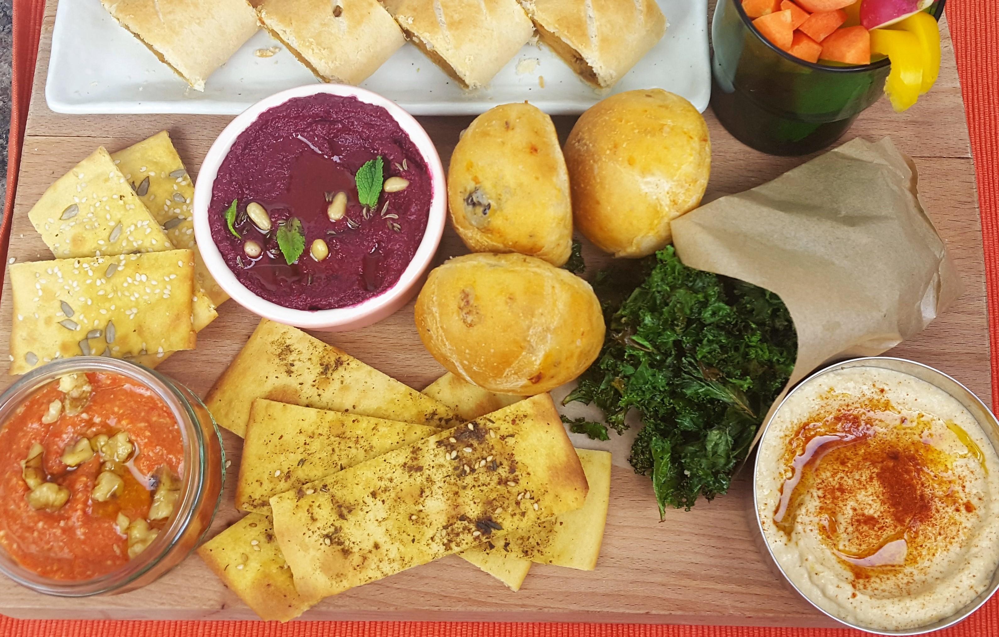 Vegetarian Snacks Vegan Dip RecipesVegetarian Dips Recipes | Beetroot and Feta Dip | Roasted Red Pepper and Walnut Dip | Hummus Dip Recipe