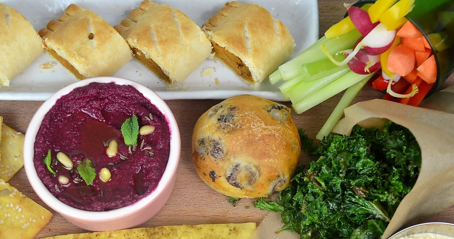 Vegetarian Snacks Platter Recipes with Breads, Crackers, Pastries and Dips Recipes dontask4salt