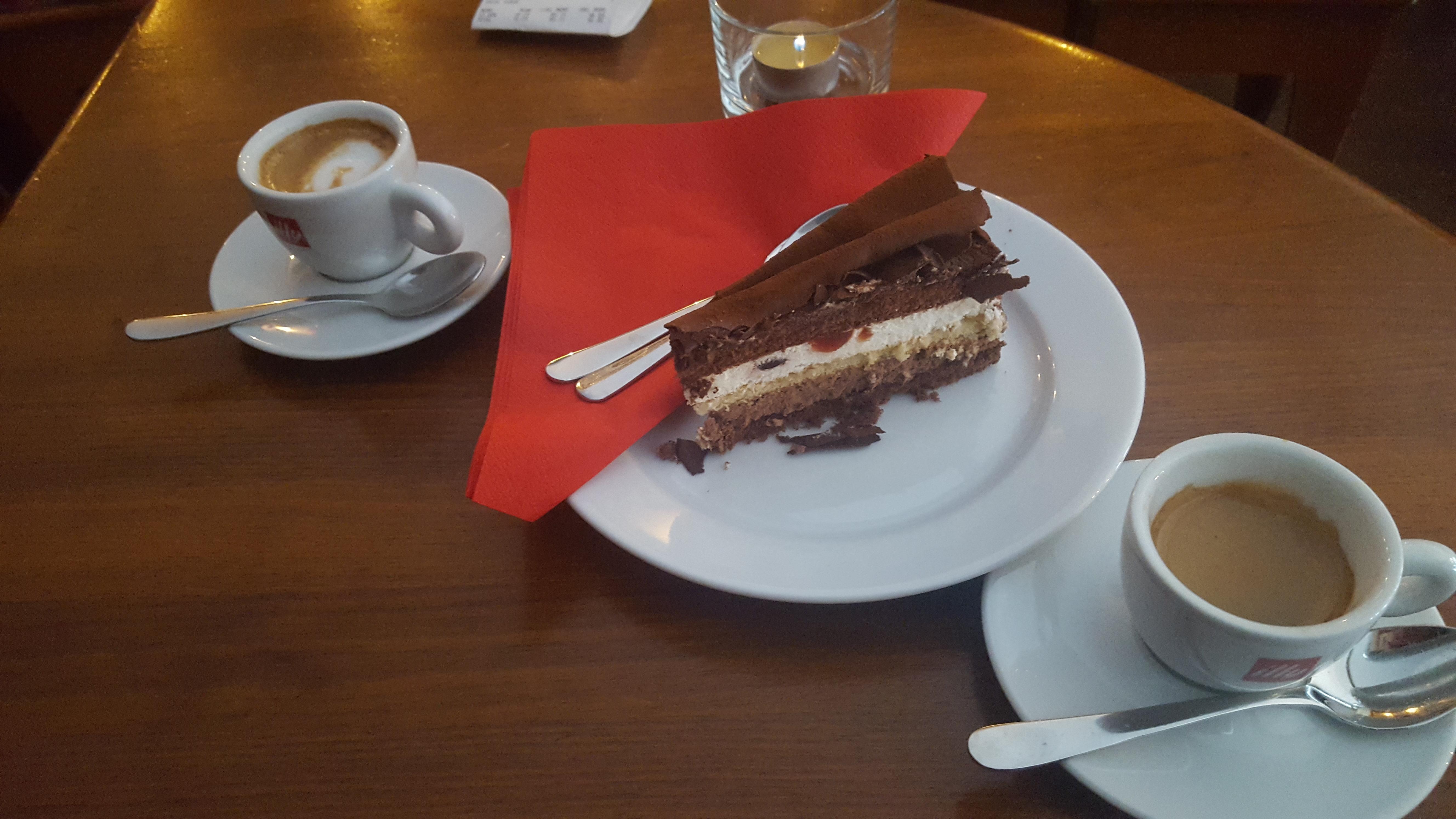 Black Forest Cake Slice - Cafe Albert | Vegetarian Food in Stockholm