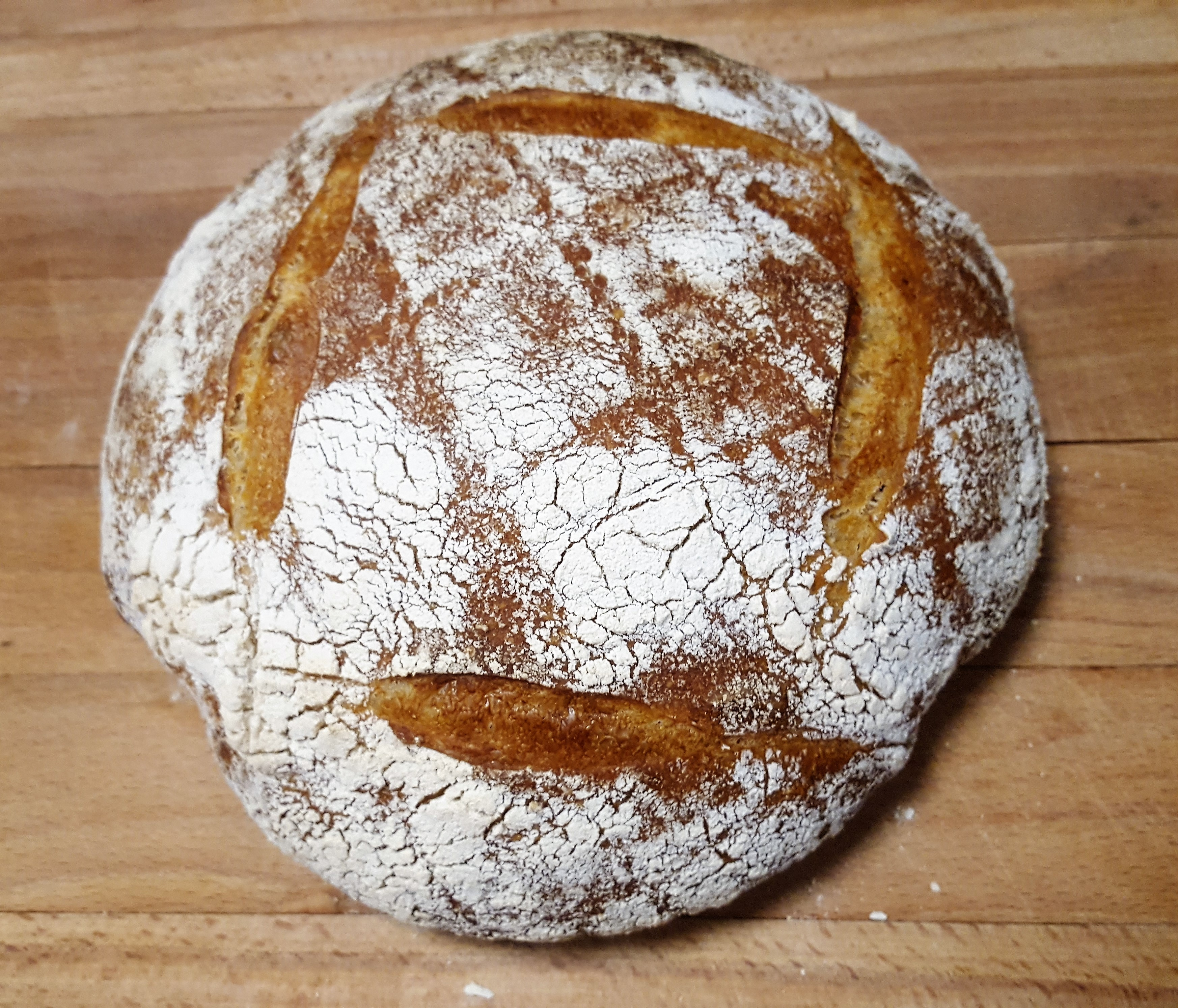 My first ever homemade sourdough bread loaf!