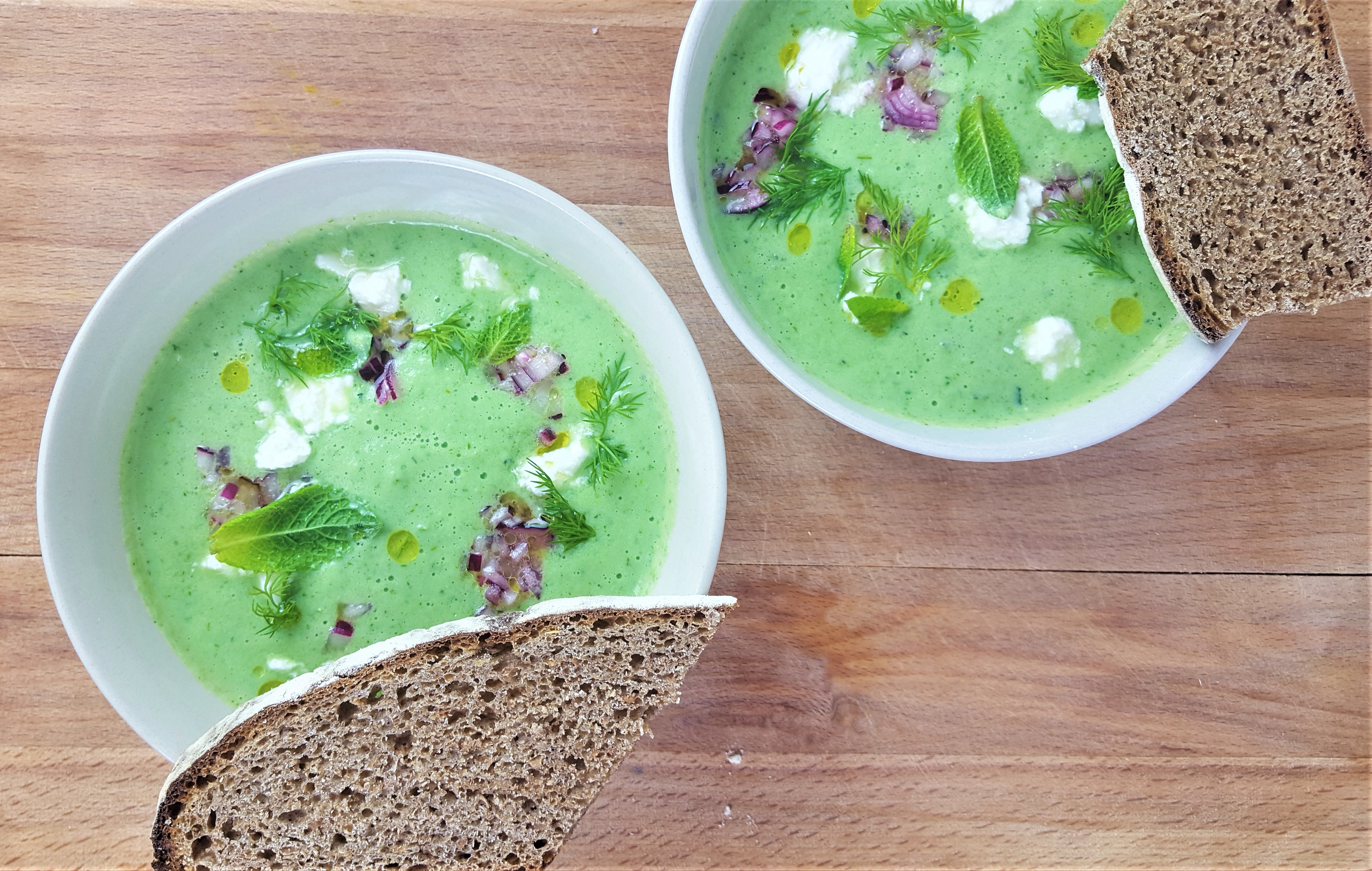 Cucumber dill and mint soup recipe