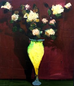 Flovers in Yellow Vase