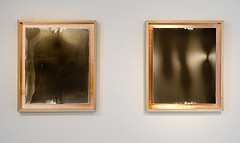 Khanlar Gasimov, Untitled I (2012) and Untitled II (2012) Poetry recited photographic papers mounted on laminated copper & wooden frame 72 x 62 cm