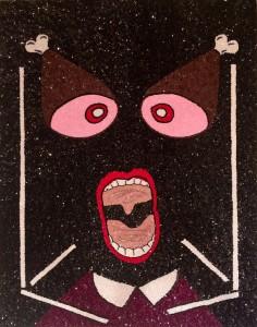Philip Colbert, Meat scream, 2014, sequins on canvas, 101.5 x 80.5cm