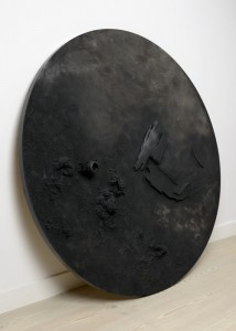 Saad Qureshi: Burden of Decay 2012, Mixed Media including wood, leather and paint, 200 cm diameter
