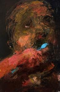 Niyaz Najafov, Portrait (Morning), Oil on canvas, 27 cm x 41.5 cm