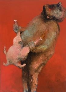 Chicken Love Oil on canvas, 100 x 75 cm, 2012