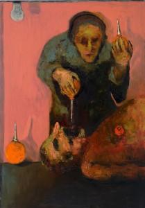Enemas (Clinical Death) Oil on canvas, 161 x 81 cm, 2012