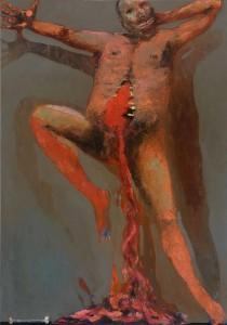 Dancing on Bones 2 Oil on canvas, 163 x 114 cm, 2012