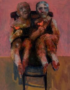 On a Chair Oil on canvas, 146 x 114 cm, 2012