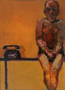 Telephones (anticipation) Oil on canvas, 100 x 73 cm, 2012