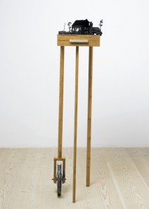 Saad Qureshi: Condence Chose Me 2012, Mixed Media including wood, beeswax, paint, 40.5 x 38 x 149 cm