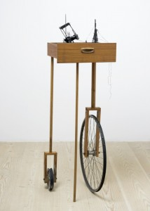 Saad Qureshi: Night Before 2012, Mixed Media including wood, beeswax and paint, 45.5 x 38.5 x 155 cm