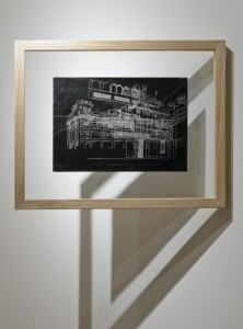 Saad Qureshi: Persistence of Memory M5, (framed) 2012, Carvings on carbon paper, 37 x 46 cm