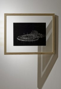 Saad Qureshi: Persistence of Memory M10, (framed) 2012, Carvings on carbon paper, 37 x 46 cm