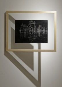 Saad Qureshi: Persistence of Memory M12, (framed) 2012 Carvings on carbon paper, 37 x 46 cm